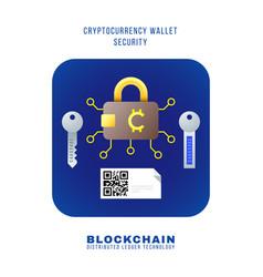blockchain distributed ledger technology vector image