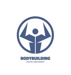 body-building - creative logo template vector image