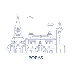 Boras the most famous buildings of the city vector