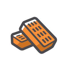 bricks for house construction cartoon vector image