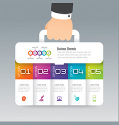 business suitcase infographics design vector image