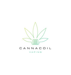 Cannacoil cannabis coil logo vaping for cannabis vector