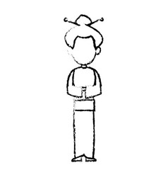 Character woman female standing sketch image vector