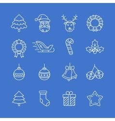 Christmas icons set - simplus series vector