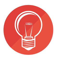 Circular frame with light bulb icon vector