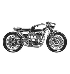 Classic motorcycle vintage template vector