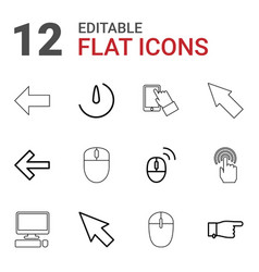 Click icons vector