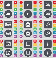 Cloud Media play Gamepad Record-player Message vector