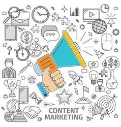 Concept Content Marketing vector