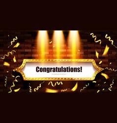 Congratulations banner frame vector