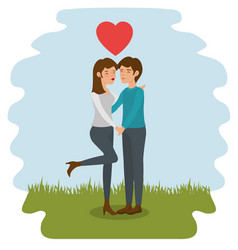 Couple holding hands design vector
