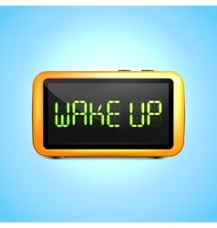 Digital alarm clock wake up vector
