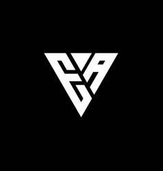 Ea logo letter monogram with triangle shape vector
