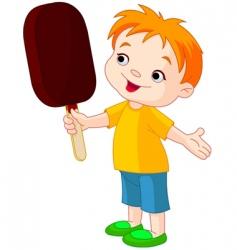 eating ice cream vector image