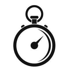finish stopwatch icon simple style vector image