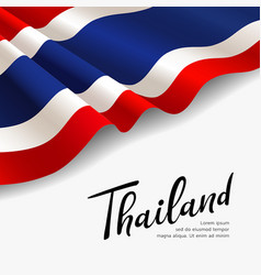Flag thailand fabric design vector