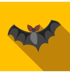 Flight of a bat icon flat style vector image