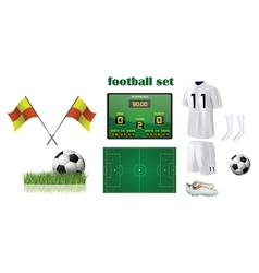 football kit accessories vector image