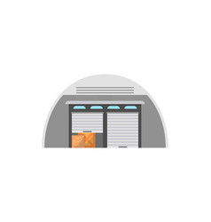 Freight storehouse facade isolated icon vector