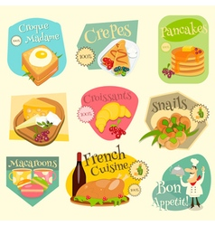 French food labels vector