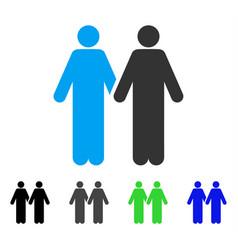Gay couple flat icon vector