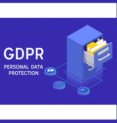 gdprpersonal data protection and privacy concept vector image