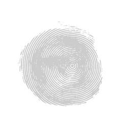 Gray asymmetrical grunge concentric circle vector