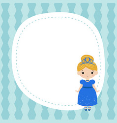 Greeting card with beautiful princesses greeting vector