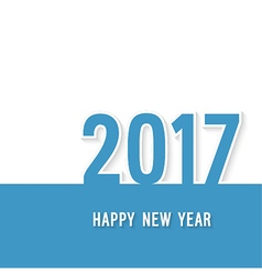 Happy new year 2017 paper postcard vector