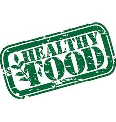 Healthy food grunge stamp vector image