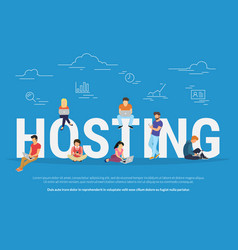hosting concept young vector image
