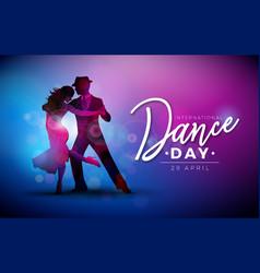 international dance day vector image