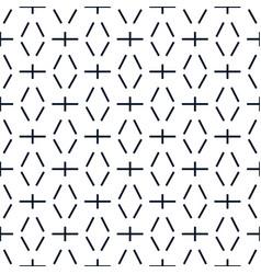 line dash geometric seamless pattern vector image