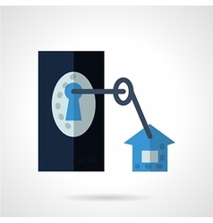 Lock with key flat icon vector
