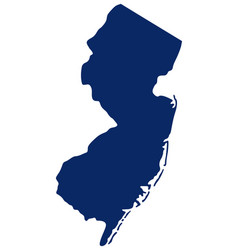 Map new jersey in blue colour vector