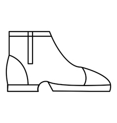 Men boots icon outline style vector