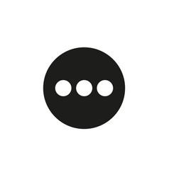 menu black icon vector image