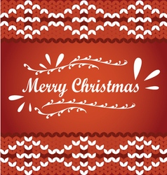 Merry Christmas lettering on a knit sweater vector image