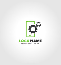 Mobile servicing logo template vector
