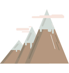 Model of mountains vector