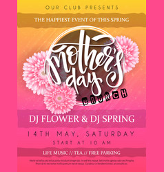Mothers day event poster vector