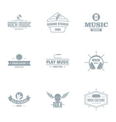 Music skill logo set simple style vector