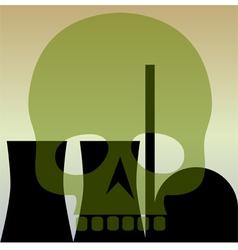 Nuclear power station skull vector