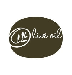 Olive oil label green type design vector