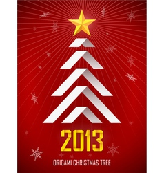 Origami New Year Tree vector image