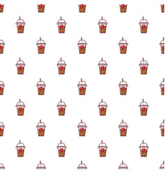 Paper cup pattern seamless vector