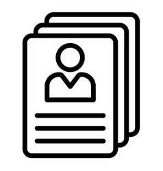 Personal files icon outline style vector