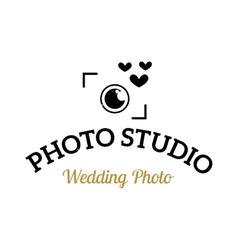 Photographer icon logo vector image