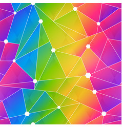 rainbow color web triangle seamless pattern vector image