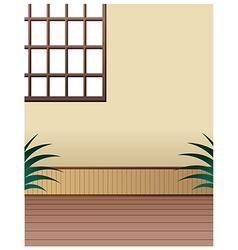 Room Window Interior vector image